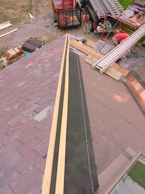 Slate Roof Central - How to install slate hips and ridges.