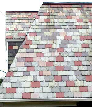 Slate Roof Central - Styles of Slate Roof Installations - mixed color slating style